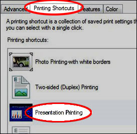 Como imprimir HP printing shortcuts