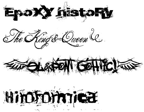 Download de fonte de letras epoxy